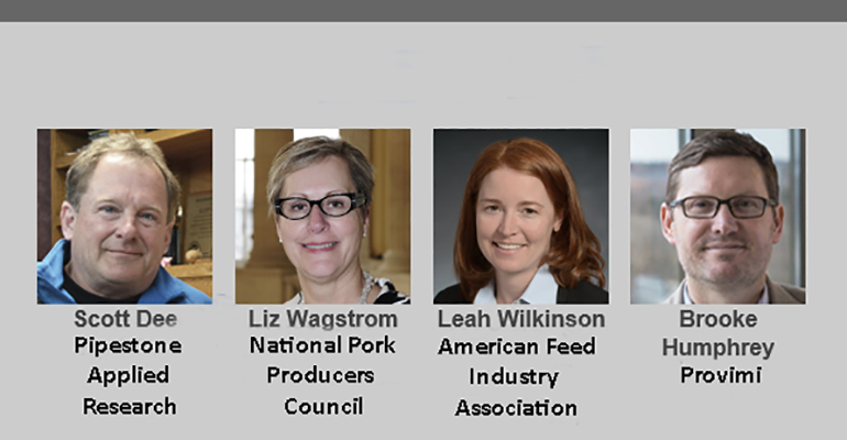 National Hog Farmer's Global Hog Industry Virtual Conference will feature Scott Dee, Pipestone Applied Research; Liz Wagstrom, National Pork Producers Council; Leah Wilkinson, American Feed Industry Association, and Brooke Humphrey of Provimi