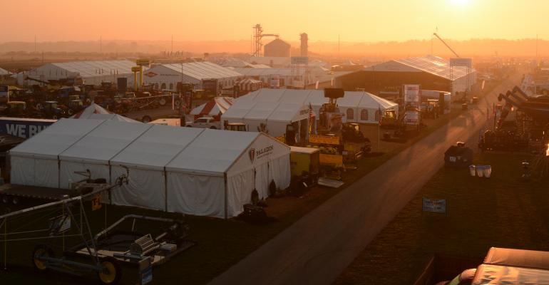 sunrise at the Farm Progress Show
