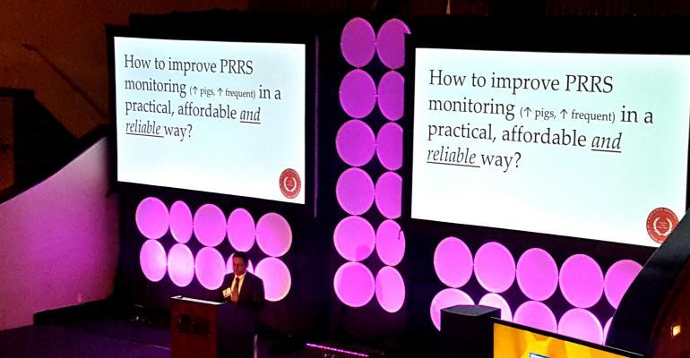 Daniel Linhares, ISU  presenting at NA PRRS conference