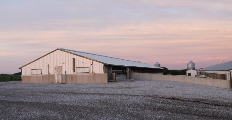 Hog production facility