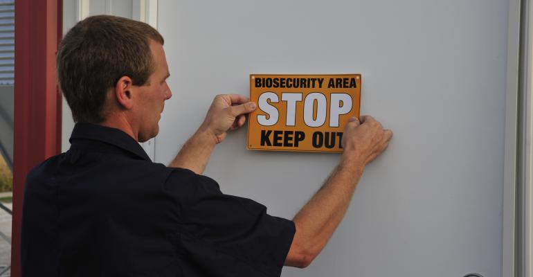 Biosercurity sign