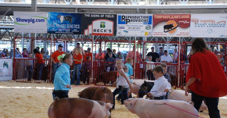World Pork Expo ringside