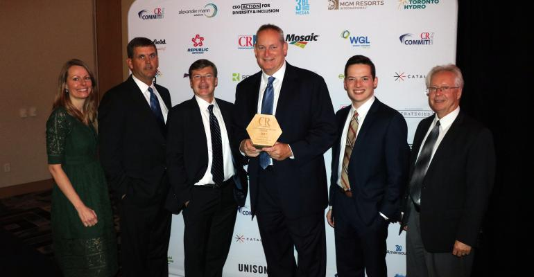 Smithfield Foods President and CEO Kenneth M. SullivanReceives CR Magazine's 2017 Responsible CEO of the Year Award