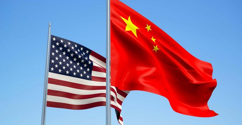 U.S.-China flags