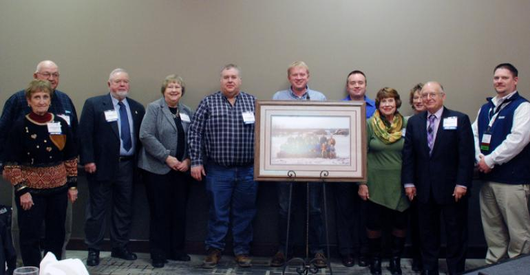 Philip and Linda Bradshaw family of Griggsville, Ill., was named Illinois Pork Producer Family of the Year.