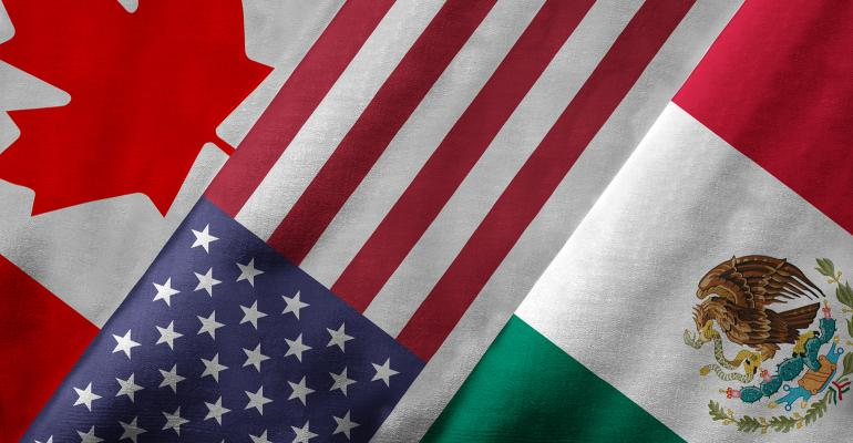 Canada-United States-Mexico flags