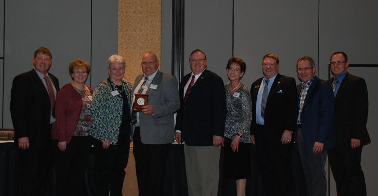 The Compart Family from Nicollet, Minn., was honored as the 2017 Family of the Year at the Minnesota Pork Congress.