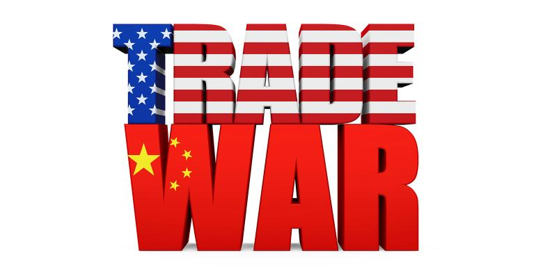 U.S. China trade war illustration