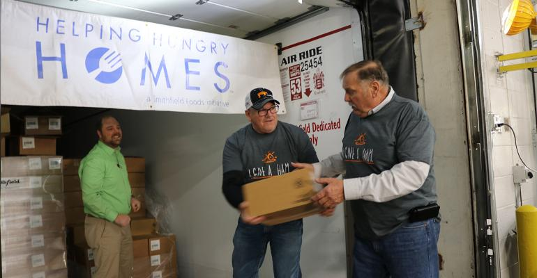 Donation of Hams Across America
