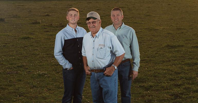 Phil, Duane and Pat Hord represent three of the five Hord generations that have farmed in north-central Ohio.