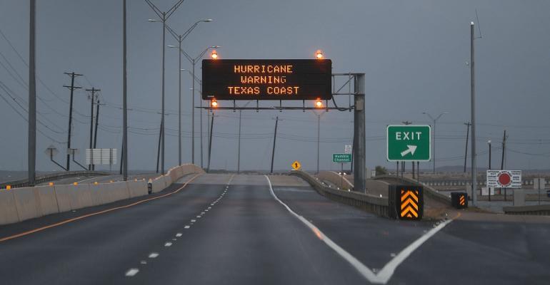 Hurricane Harvey road closing