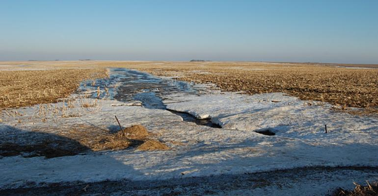 Snowmelt can cause nutrient transport from manure, so careful planning is required to protect water and to get the most from the manure nutrients.