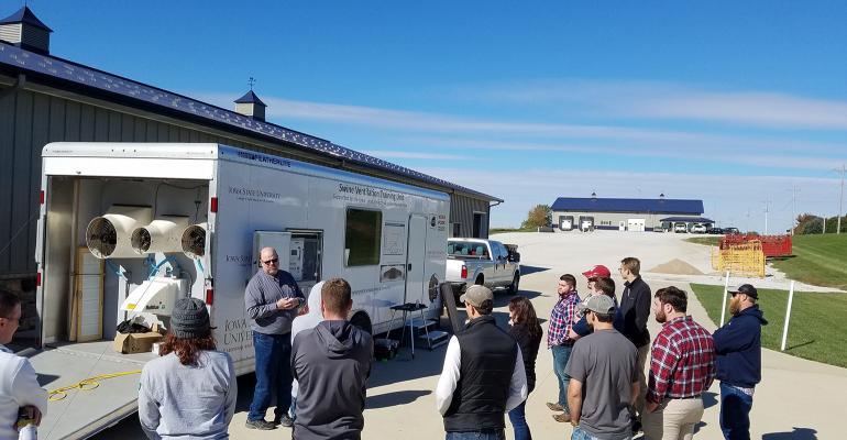 Ventilation training trailer demonstration