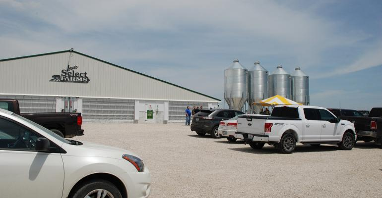Iowa Select Farms hosted an open house of its new Hale Finisher near Williams, Iowa.