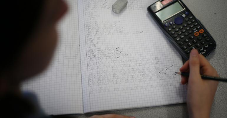 Math calculations and a calculator