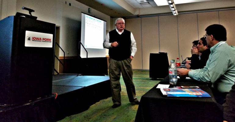 Steve Meyer, Kerns & Associates, speaking at Iowa Pork Congress