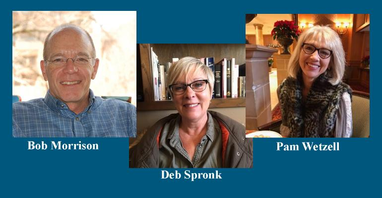 Collage of Bob Morrison, Deb Spronk and Pam Wetzell