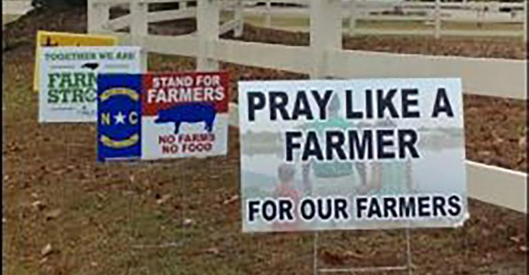 Signs across eastern North Carolina show support for our farms.