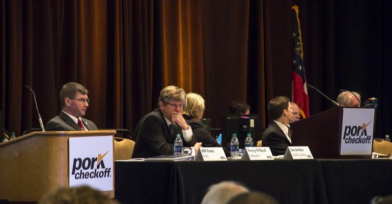 National Pork Board members preside over the Pork Act Delegate session during Pork Forum 2017 in Atlanta, Ga.