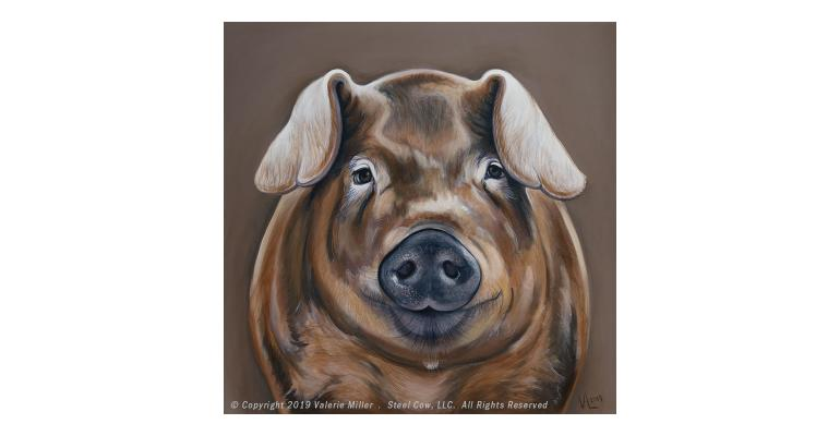 Duroc painting to honor Kay Christian