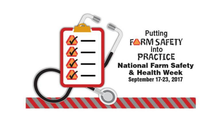National Farm Safety and Health Week 2017-Putting Farm Safety Into Practice logo