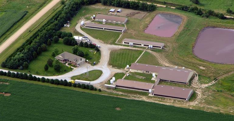 Aerial shot of the O'Neel farm near Friend, Neb.
