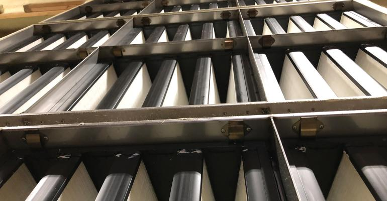 With Hansen Ag Solutions' single-piece filter grid, the robust stainless steel clips are factory-installed and riveted to the grid, allowing filters to be removed and replaced quickly — without tools.