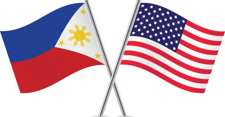 Philippines And American Flags