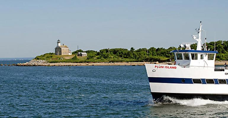 The MS Plum Island makes the crossing between New York's Orient Point and Plum Island several times a day, carrying passengers and cargo as part of normal Plum Island Animal Disease Center operations.