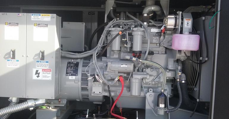 backup generator on a hog farm