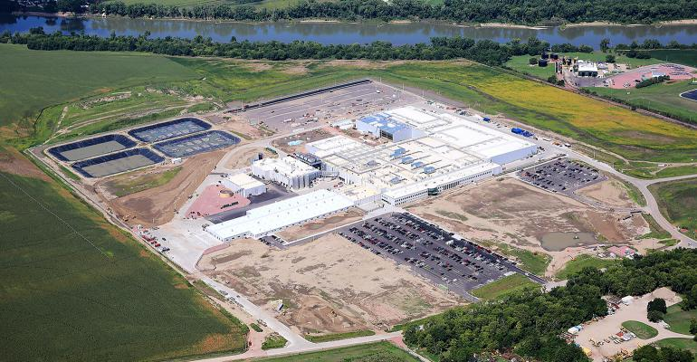 Aerial shot of the Seaboard Triumph Foods pork processing plant set to open Sept. 5 in Sioux City, Iowa.