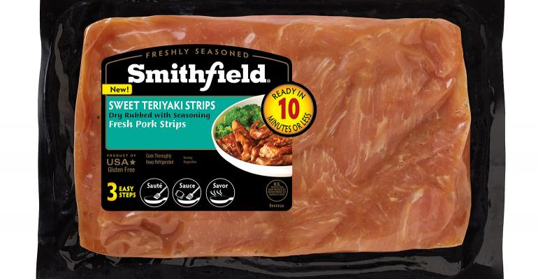 Through their own data along with NPB's report, Smithfield Foods has come out with flavored loin strips that can become a meal in three steps.