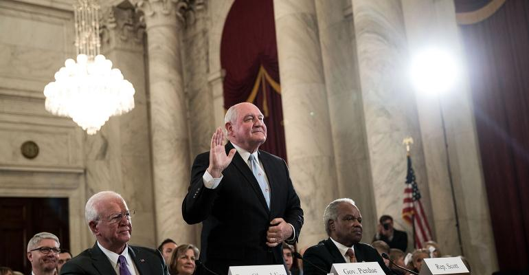 Sonny Perdue at his March 23, 2017, confirmation hearing as secretary of agriculture.