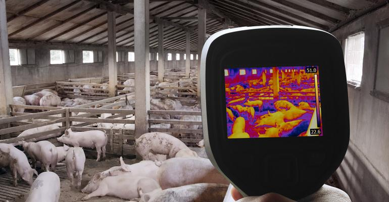 """Hostetler says the industry may soon be using """"cough monitors,"""" facial recognition technology and Bluetooth sow ear tags."""