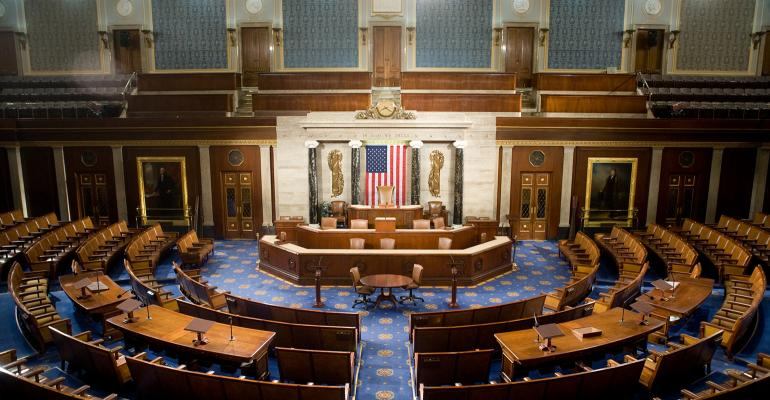 Empty chamber of the U.S. House of Representatives