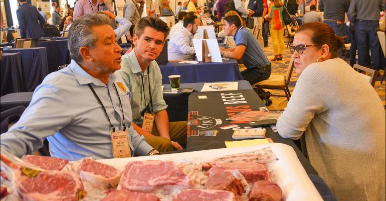 Various cuts of U.S. pork, beef and lamb that fit well in Latin American markets were put on display and tasting samples of Latin American-style dishes were offered to attendees throughout the show.