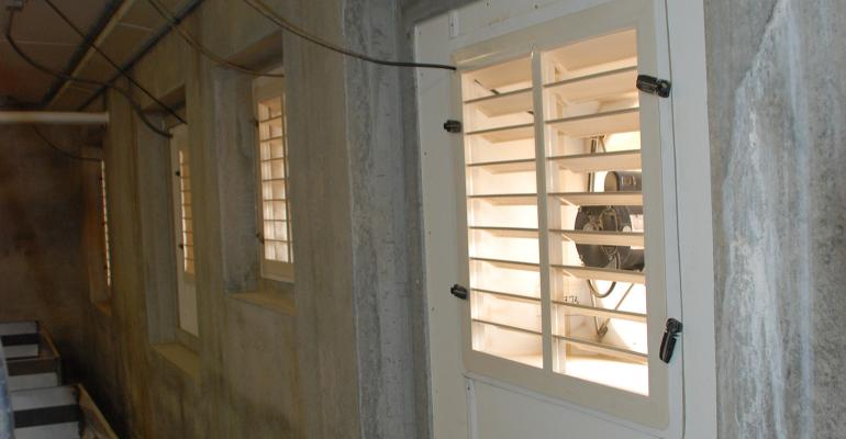 proper maintenance of fan shutters or louvers makes for efficient operation