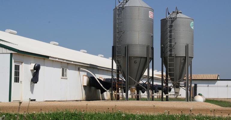 Exterior of a filtered hog barn