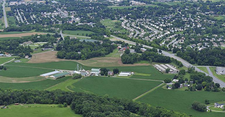 urban encroachment on farm land