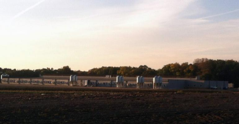 wide shot of the Todd County, Minn., Gourley Premium Pork hog facility