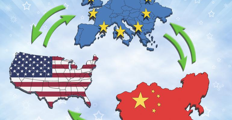 U.S., China, European Union interaction