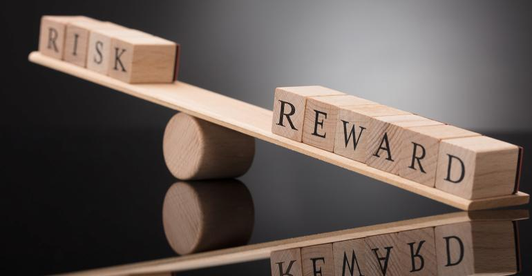 Risk-reward imbalance illustration