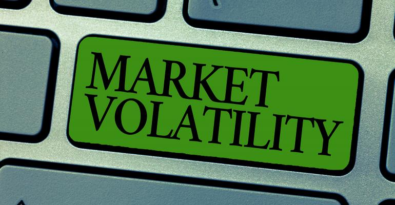 Market volatility illustration