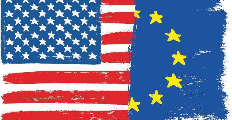 U.S.-European Union flags