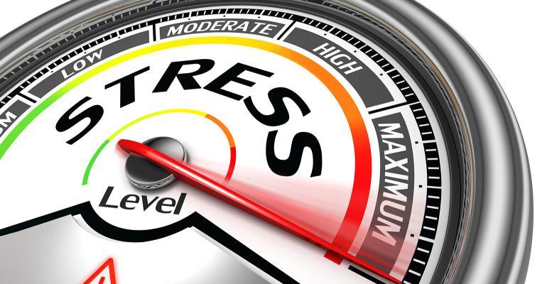 Illustration: stress meter at maximum level