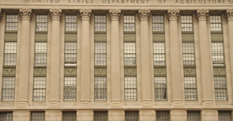 Front facade of the Department of Agriculture in Washington D.C.