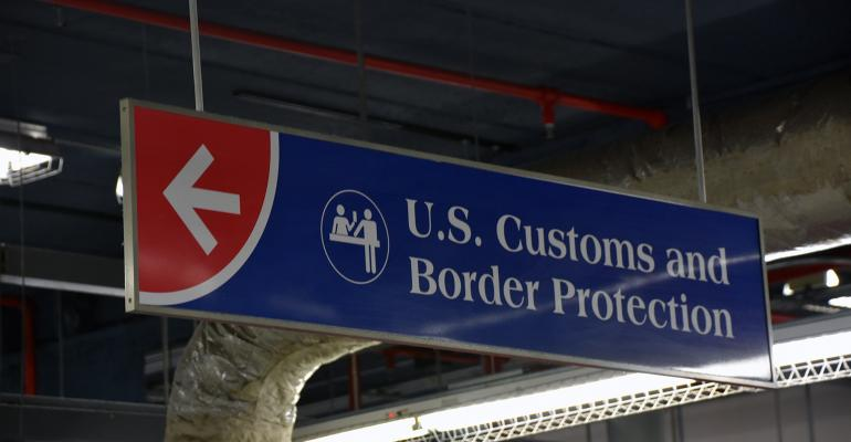 Customs-Border Protection sign