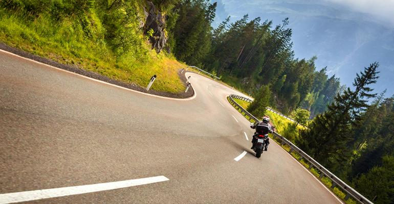 motorcycle ride on a curvy road