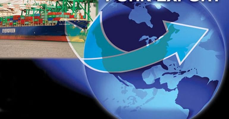 Logo of Pork Export, shipping globally.