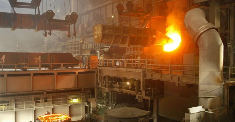 German steel plant